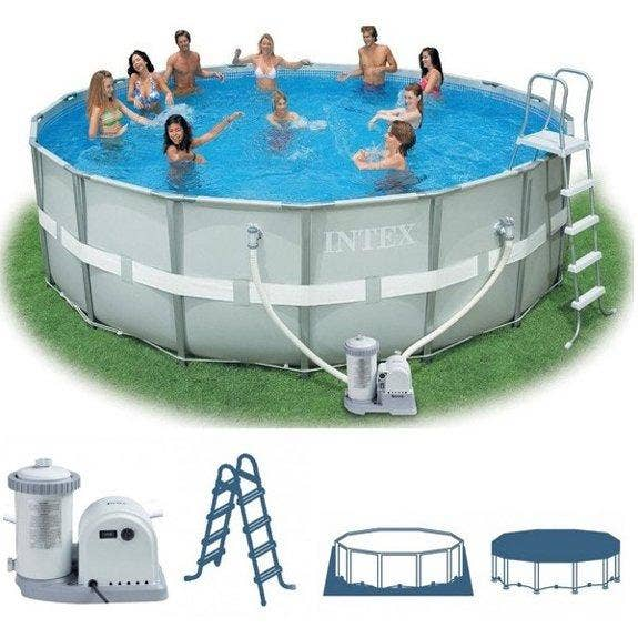 Intex 16ft X 48 Ultra Frame Swimming Pool With Filter Pump 28322 Ebay