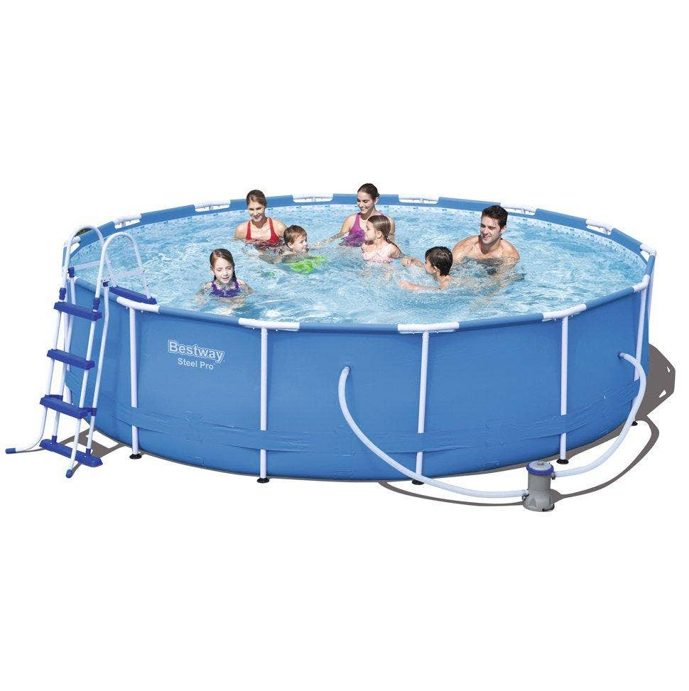 Bestway 14ft X 39 5 Steel Pro Frame Above Ground Swimming Pool Set 56422 Ebay