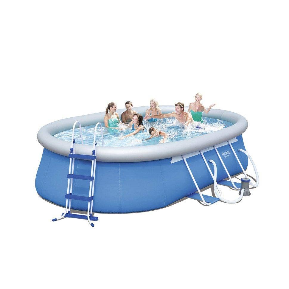 Bestway 16ft X 10ft X 42 Oval Fast Set Swimming Pool With Accessories 56447 Ebay