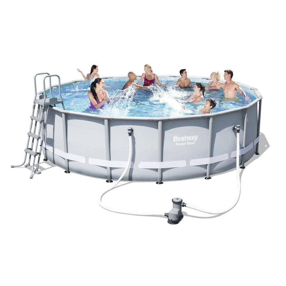 Bestway 16ft X 48 Above Ground Frame Swimming Pool With Accessories 56451 Ebay