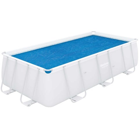 """Bestway Flowclear 13ft 3"""" x 6ft 7"""" Above Ground Rectangular Pool Solar Cover"""