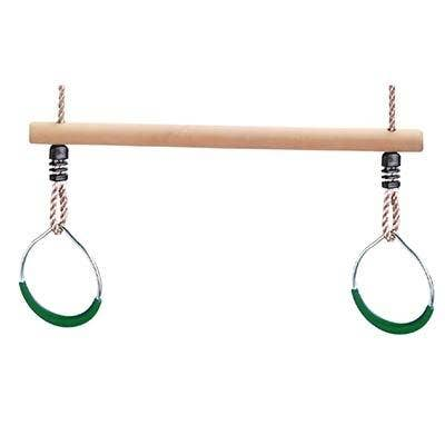 Garden Games Trapeze Bar wth Metal Gym Rng Swng Attachment