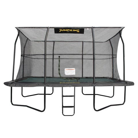 14ft x 10ft Jumpking Deluxe Rectangular Trampoline with Enclosure