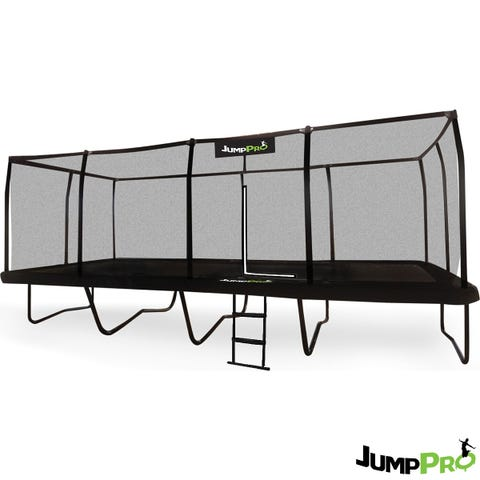 JumpPRO 23ft x 10ft JumpPRO™ Giant Black Rectangular Trampoline with Professional Installation