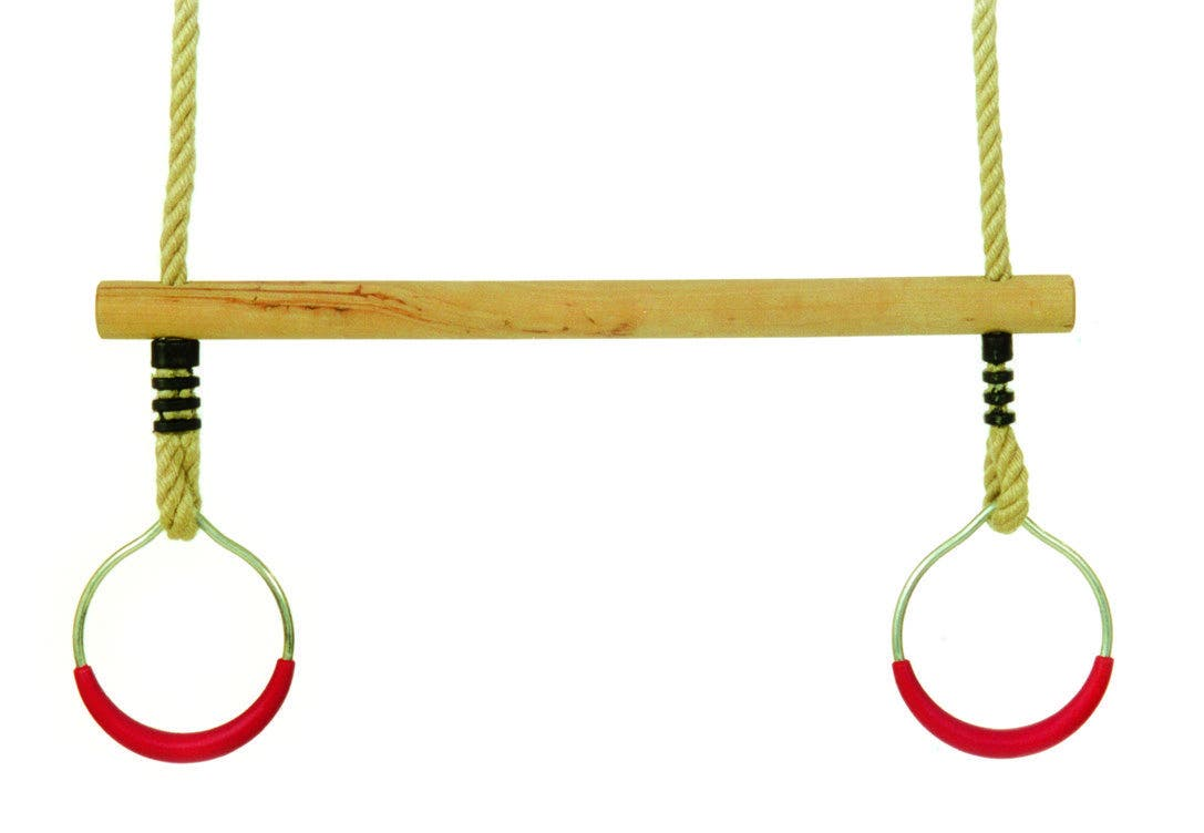 Wooden Trapeze with rings